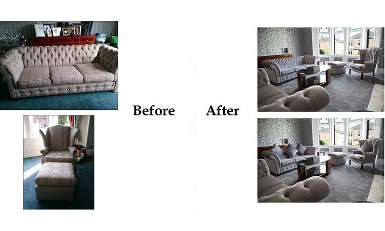 Sofa and Chairs Before/After 1