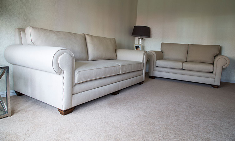 Perth Sofa: Classic White Sofa.